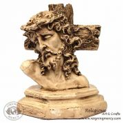 """Jesus and the Crown of Thorns Ceramic Statue 12"""" x 5"""""""