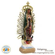 Virgin of Guadalupe Statue (Crowned) 14""