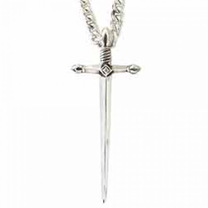 f0381e76c16 Christian Jewelry Sterling Silver Cross Necklace - Sword - - 511-811-0572