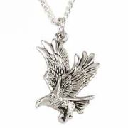 Christian Jewelry Sterling Silver Necklace - Landing Eagle
