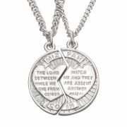 Christian Necklace - Two Halves - Mizpah Cracked Coin