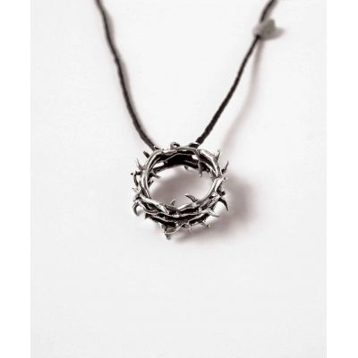 Sterling Silver Crown Necklace - Thorns -  - 511-814-5856
