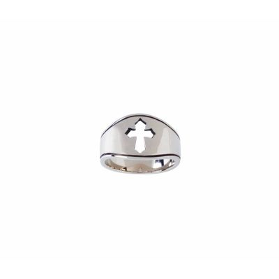 Sterling Silver Ladies  Christian Cross Ring - Pierced Cut-Out -  - 511-821-3630