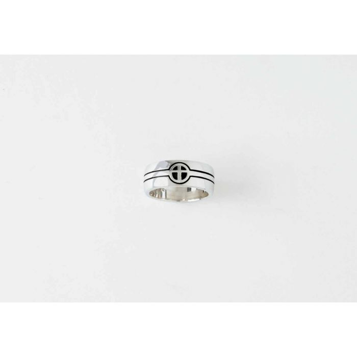 Sterling Silver Men s Cross Christian Ring - They Become One