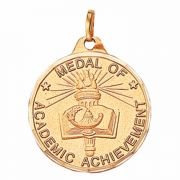 1 1/4in. Academic Achievement Medallion with Ribbon - (Pack of 2)