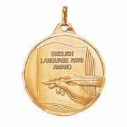 1 1/4in. English Award Medallion with Ribbon - (Pack of 2)