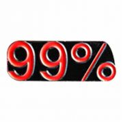 99 Percent Enameled Colors on Bronze Lapel Pin - (Pack of 2)