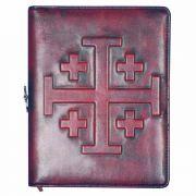 Jerusalem Cross Personal Leather Journal & Bookmark