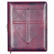 Richly Embossed Episcopal Shield Personal Leather Journal