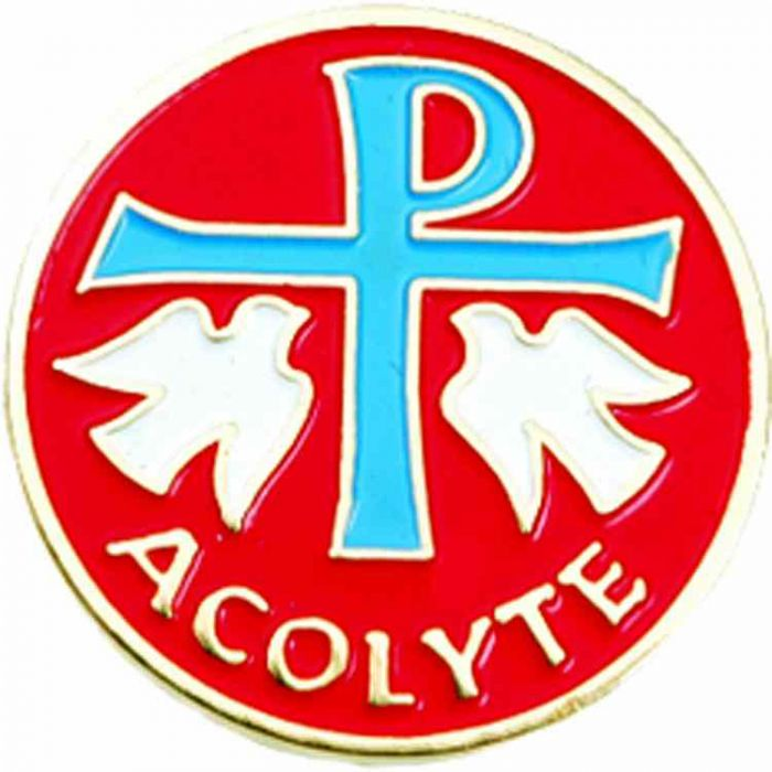 Wedding Altar Synonyms: Worker Badges, Lapel Pins : Acolyte Enameled Lapel Pin 1