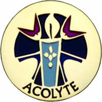 Acolyte Gold Plated / Enameled Lapel Pin 1/4in. Post / Clutch Back 2Pk