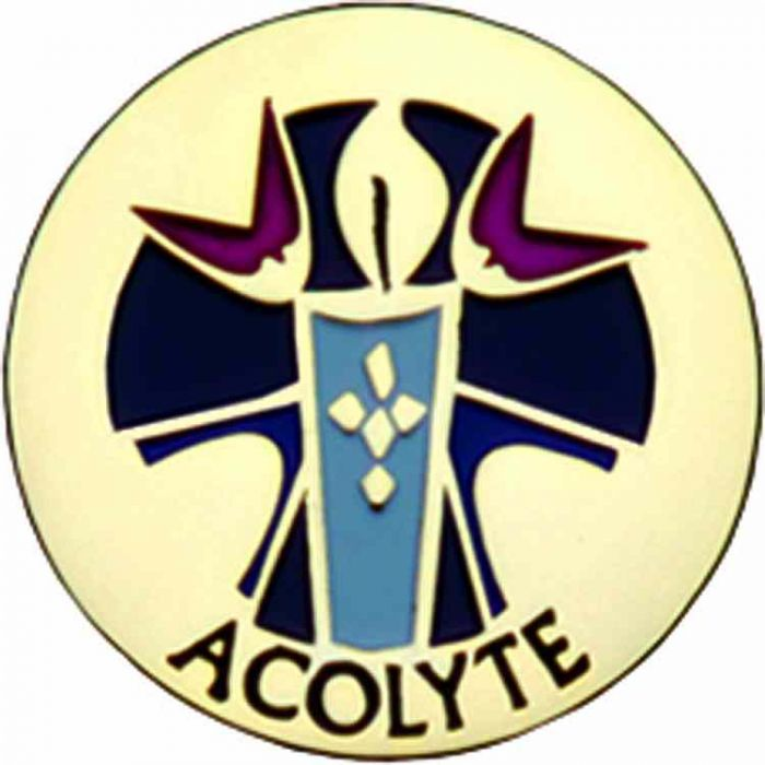 Wedding Altar Synonyms: Worker Badges, Lapel Pins : Acolyte Gold Plated / Enameled