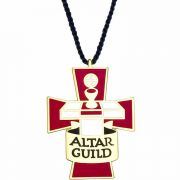 Altar Guild Gold Plated & Enameled Pendant w/Cord - (Pack of 2)