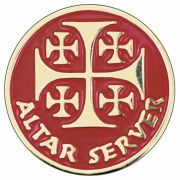 Altar Server Enameled Colors Lapel Pin 1/4in. Post - Clutch Back 2Pk