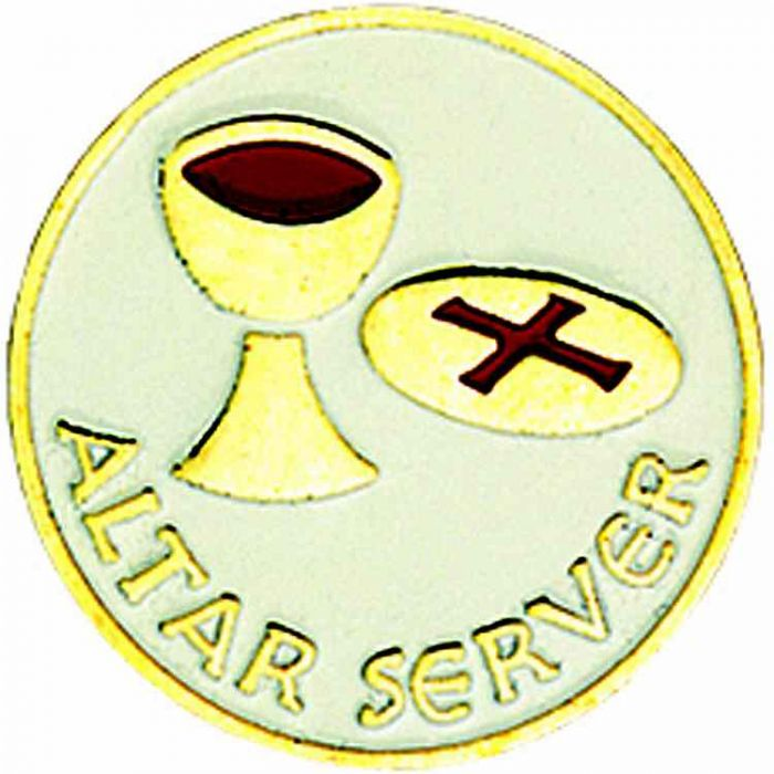 Wedding Altar Synonyms: Worker Badges, Lapel Pins : Altar Server Gold Plated