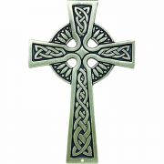 Antiqued Silver Plated Bronze Celtic Wall Cross - (Pack of 2)