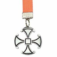 Antiqued Silver Plated Canterbury Cross Bookmark with Ribbon - 2Pk