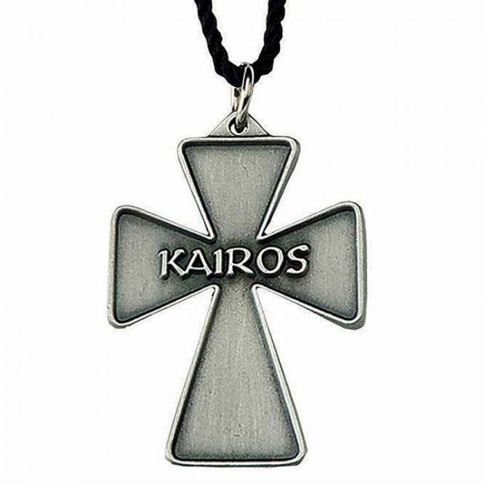 Necklaces : Antiqued Silver Plated Kairos Cross Necklace