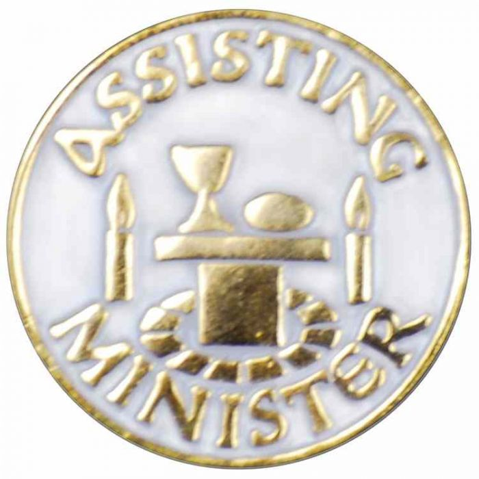 Assisting Minister Gold Plated & Enameled Lapel Pin - (Pack of 2)