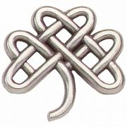 Celtic Clover Antiqued Silver Plated Lapel Pin - (Pack of 2)