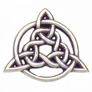 Circle of Life Trinity Knot Antiqued Silver Plated Lapel Pin - 2Pk
