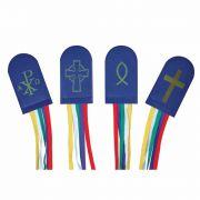 Custom Five Color Ribbon Bookmark - (Pack of 2)