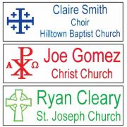 Customized Ministry Church Worker Badge Large, Easy to Read (2 Pack)