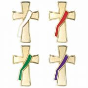 Deacon Liturgical Colors Lapel Pin Set - (Pack of 2)