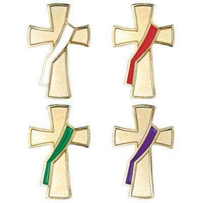 Deacon Liturgical Colors Lapel Pin Set - (Pack of 2) -  - B-07-G-P-W