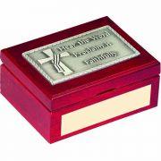 Deacon's Cherry Wood Keepsake Box with Plush Lining