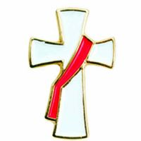 Deacon's Cross Gold Plated & Enameled Lapel Pin - (Pack of 2)