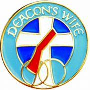 Deacon's Wife Gold Plated & Enameled Lapel Pin - (Pack of 2)