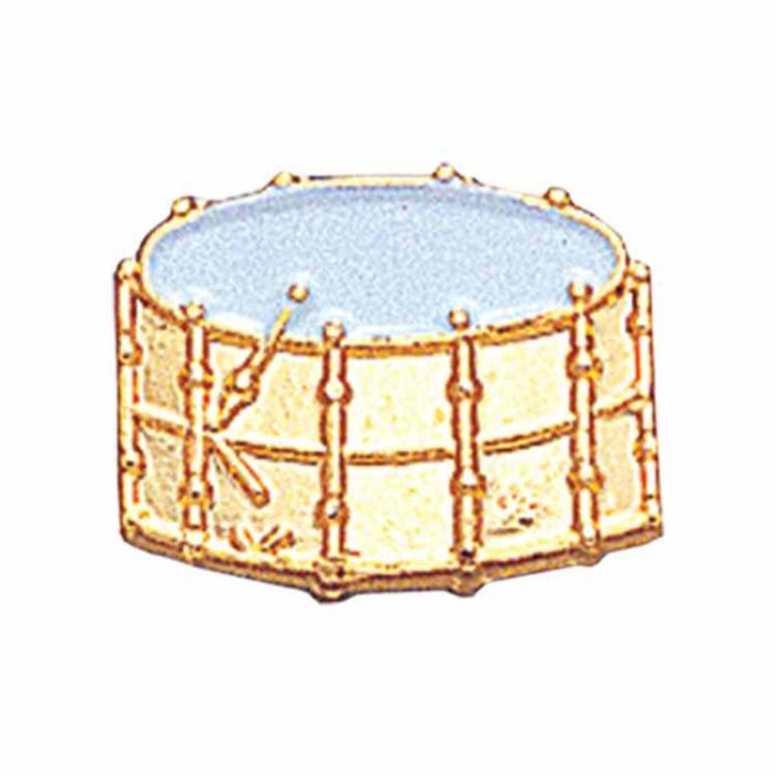 Drum Gold Plated / Enameled Lapel Pin 1/4in  Post / Clutch Back - 2Pk
