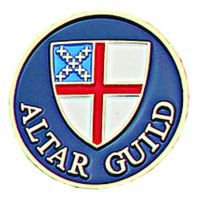 Episcopal Altar Guild Gold Plated & Enameled Lapel Pin - 2Pk