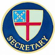 Episcopal Secretary Gold Plated & Enameled Lapel Pin - (Pack of 2)