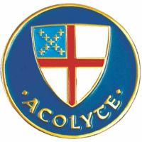 Episcopal Shield Acolyte Gold Plated & Enameled Lapel Pin - 2Pk