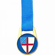 Episcopal Shield Bookmark on Blue Grosgrain Ribbon - (Pack of 2)