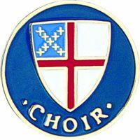 Episcopal Shield Choir Gold /Enameled Lapel Pin 1/4 Post/Clutch 2Pk