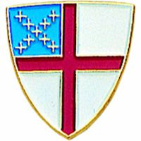 Episcopal Shield Gold Plated & Enameled Lapel Pin - (Pack of 2)