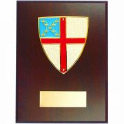 Episcopal Shield Medallion Wall Plaque Gold Plated