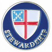 Episcopal Stewardship Gold Plated & Enameled Lapel Pin - 2Pk