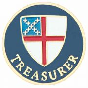Episcopal Treasurer Gold Plated & Enameled Lapel Pin - (Pack of 2)