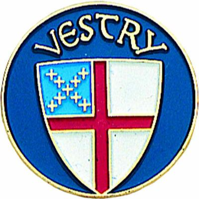Episcopal Vestry Gold Plated & Enameled Lapel Pin - (Pack of 2) -  - B-41