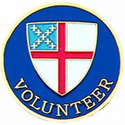 Episcopal Volunteer Church Gold Plated & Enameled Lapel Pin - 2Pk