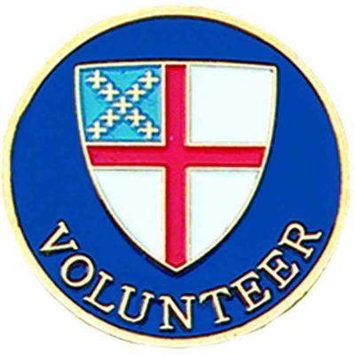 Episcopal Volunteer Church Gold Plated & Enameled Lapel Pin - 2Pk -  - B-08