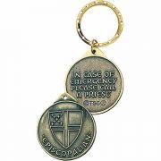 Episcopalian Identity Bronze with Antique Detailing Keytag - 2Pk