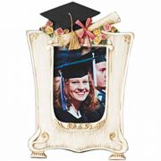 Girl Her Graduation Photo Frame/Cap/Tassels/Diploma/Pink Bow 2Pk