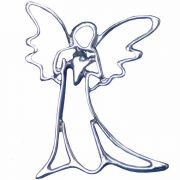 Guardian Angel Silver Plated Lapel Pin 1/4in. Post and Clutch Back 2Pk