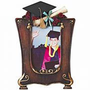 His Graduation Photo Picture Frame/Cap - Tassels/Diploma/Blue Bow 2Pk