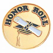 Honor Roll Enameled in White & Blue Finish Lapel Pin - (Pack of 2)